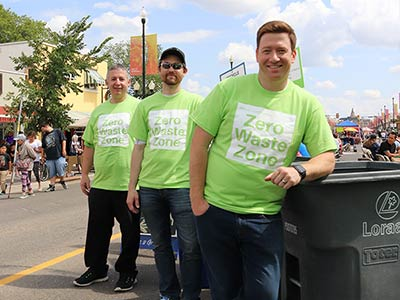 Affinity employees volunteer in the Zero Waste Zone