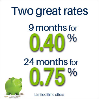 9 months for 0.75% and 36 months for 1.50%